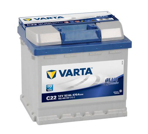 Acumulator auto 12 V - 52 Ah Varta Blue Dynamic - www.mbcauto.ro