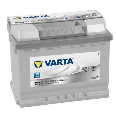 Acumulator auto 12 V - 63 Ah Varta Silver - www.mbcauto.ro